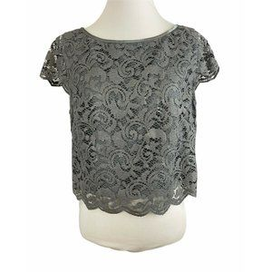 White House Black Market Lace Cropped Top